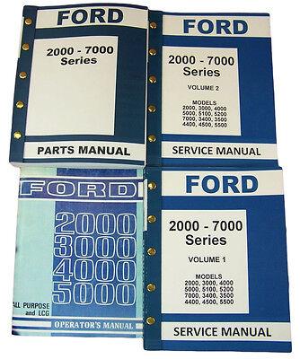 Lot Ford 2000-5000 Series Tractor Service Repair Operators Parts Manuals Catalog