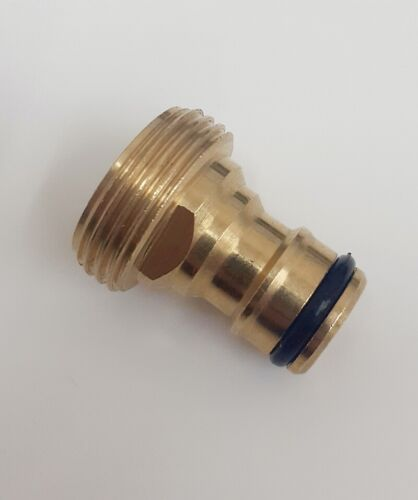 Hozelock Type Male Tap connector 3/4 BSP Brass tap Fitting X male Click