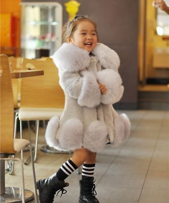 Winter Fur Coat For Girls Fashionable Casual Worsted Outerwear Children Clothing](Outerwear For Girls)