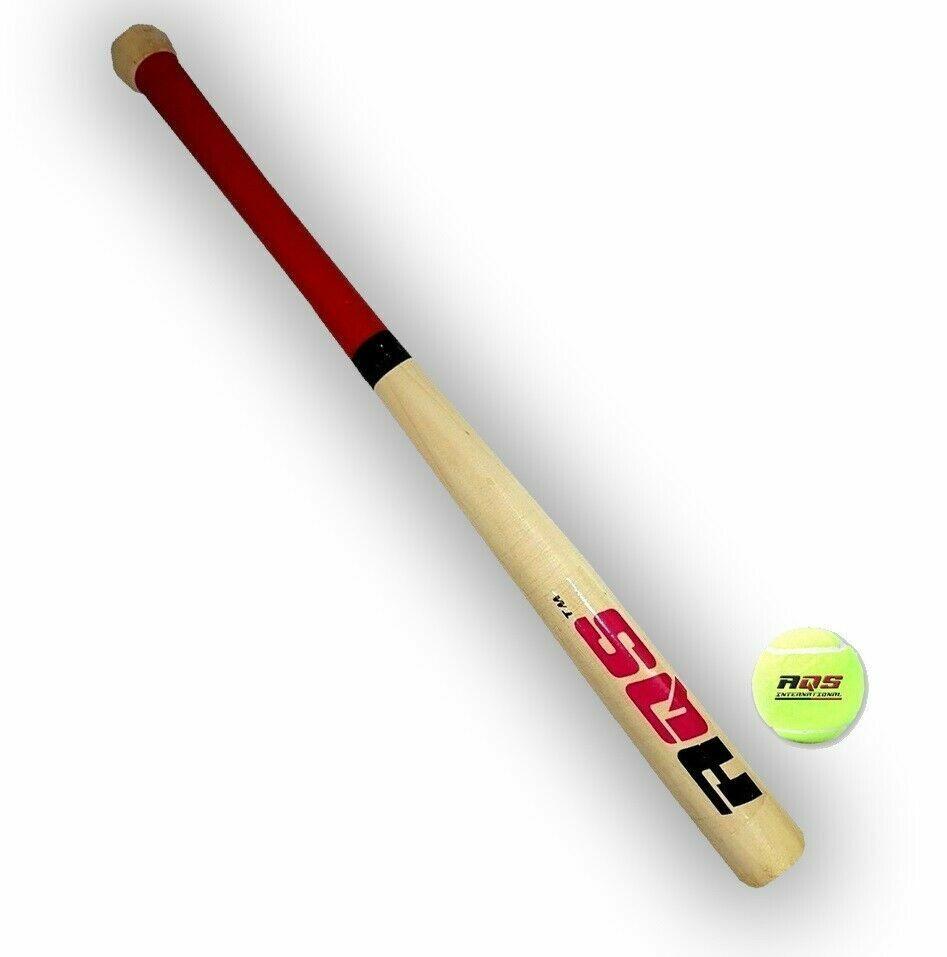 Details About 43cm 17 Rounders Kids Wooden Baseball Bat Soft Tennis Ball Garden Play Set