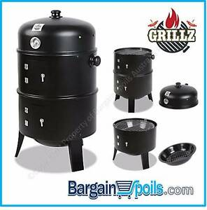 GRILLZ Portable 3in1 Charcoal BBQ Smoker & Grill North Melbourne Melbourne City Preview