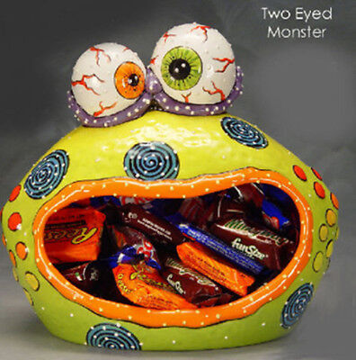 Ceramic Bisque Ready to Paint Two Eyed Monster Candy Server](Candy Craft Server)