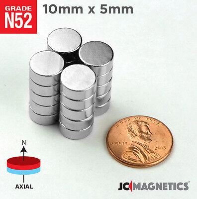 5 10 25 50pc 10mm X 5mm 38 X 316 N52 Strong Disc Rare Earth Neodymium Magnet