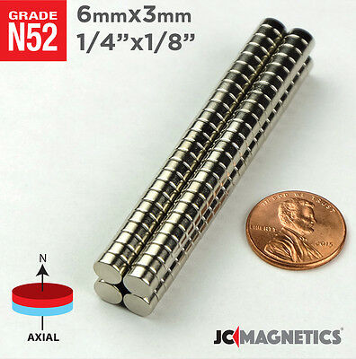 12 50 100 1000pc 6mm X 3mm 14x18 N52 Strong Disc Rare Earth Neodymium Magnet