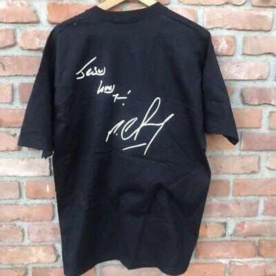 Vintage REEBOK - Jesus Loves You - Michael Chang tee - Black Tennis Athletic -