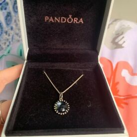 Pandora midnight blue necklace