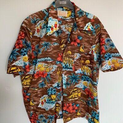 Vintage Retro Mens Festival Hawaiian Patterned Shirt