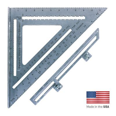 Swanson Big 12 Speed Roofing Rafter Square Layout Bar WITH Blue Instruction Book