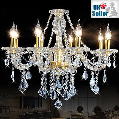 10 Licht Kronleuchter (Original K9 Kristall-Kronleuchter klar golden 6, 8, 10 Licht verdreht Arm)