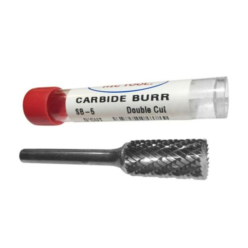 SB-5 DOUBLE CUT CARBIDE BURR 1/4 shank - 1/2 cut dia HTC USA   *FREE SHIP*