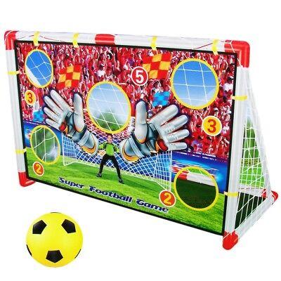 2in1 Fussballtor mit Torwand Fußball Netz Spielzeug Fussball Tor Garten Zimmer