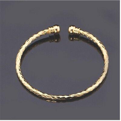 Cuff Platinum Bracelet (Simple Cuff Bangle 18k Gold Filed Platinum Plated Bracelet Fashion Jewelry  )