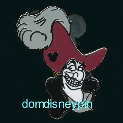 Disney Pin WDW 2019 Hidden Mickey *Villain Faces* Peter Pan's Captain Hook! (Disney Hook)
