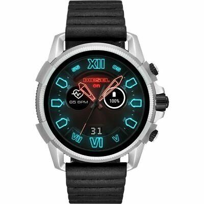 DIESEL ON FULL GUARD 2.5 Black Leather 48mm Smartwatch DZT2008