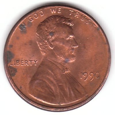 United Staes 1 Cent 1990 Copper Plated Zinc Coin - Lincoln Memorial