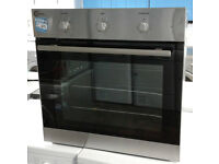 p475 stainless steel flavel single integrated electric oven comes with warranty can be delivered