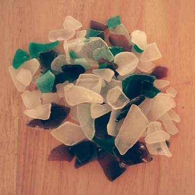 75 Pieces of Authenic NATURAL Beach Glass from Vermont Lake Champlain
