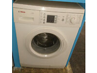 B364 white bosch 7kg 1200spin washing machine comes with warranty can be delivered or collected
