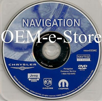 2004 2005 Dodge Charger Magnum SRT8 R/T SXT GPS Navigation DVD Map Version 033AC