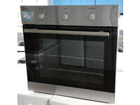 D475 stainless steel flavel single integrated electric oven comes with warranty can be delivered