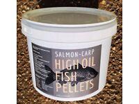 High Oil Fish Pellet (6.5KG) Salmon Carp Pond Food Lake Course Fishing Bait 10mm