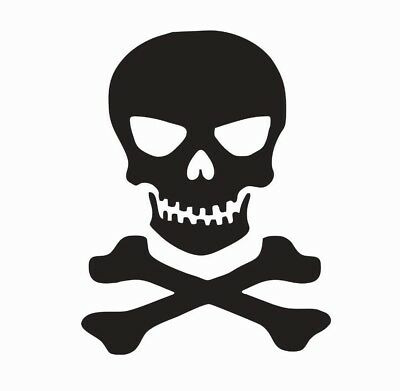 Skull and Crossbones Vinyl Die Cut Car Decal Sticker - FREE - Skull Crossbones