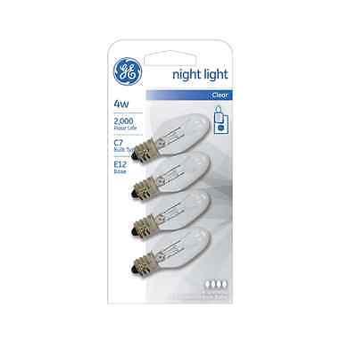 Ge Night Light Bulb Standard  4 Watt  Clear 4 Ea