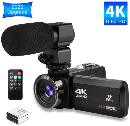 Video Camera 4K Camcorder Ultra HD Vlogging Camera for YouTube,48MP 16X Digital