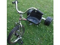 Skaight Speedster kid's Tricycle Stylish Chrome frame with BMX style forks/pedals, V brakes