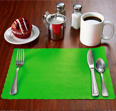 2000 Raise® Kelly Green Paper Placemats,Scalloped,10
