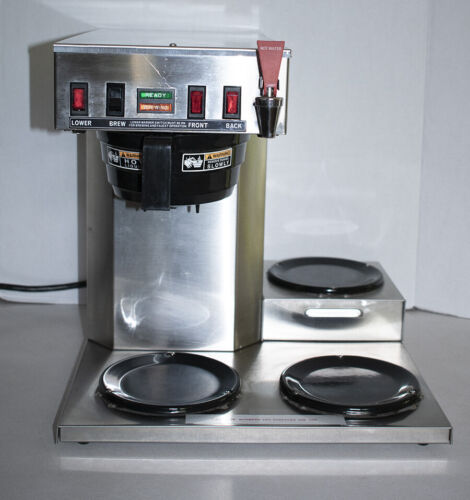 Newco ACE-LP Commercial Coffee Brewer w/ Hot Water 3-Station Stainless