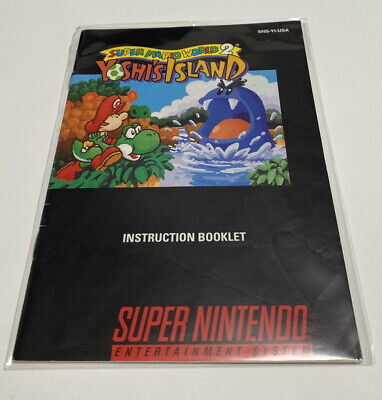 Super Mario World 2 Yoshi's Island Instruction Booklet Only Super Nintendo SNES