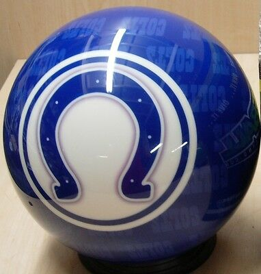 = 12 Bowling Ball Otb Viz-a-ball Retired 2010 Nfl Indiannapolis Colts