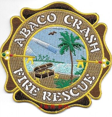 """Abaco - Crash Fire Rescue, Bahamas Int'l. Airport  (4"""" x 4"""" size) fire patch"""