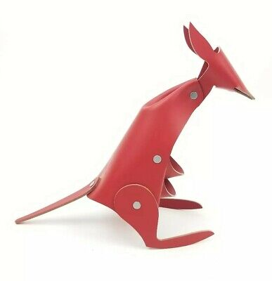 Kangaroo Red Leather Desk Organizer Office Home Decor By Vaca Valiente