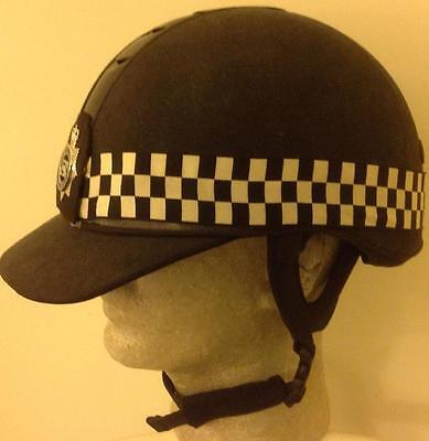 Vintage British BOBBY Mounted POLICE  horse riding helmet