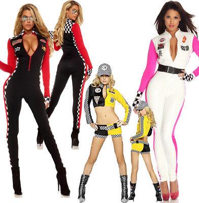 Sexy Car Racing Girl Cheerleader Uniform Costume Jumpsuit Nightclub Outfit - Racing Costume