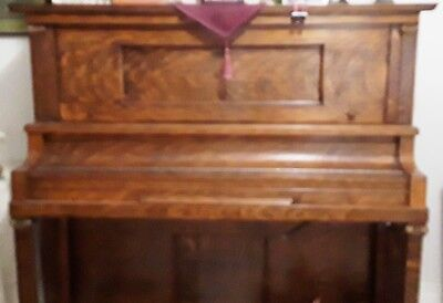 Player Piano with Rolls & Bench Oak Wood Electrified or Manual Play Ivory Keys for sale  Bradenton