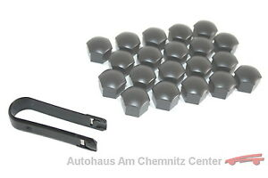 Original-VW-Tapones-de-tornillos-rueda-Kit-20-x-321601173A-Z37-antracita-SW-17