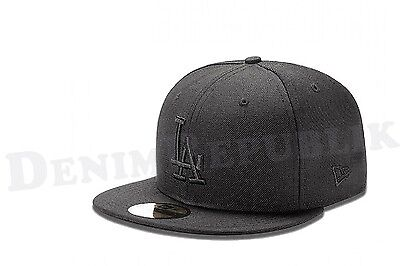 New Era 5950 LA LOS ANGELES DODGERS MLB Baseball Cap Fitted Hat Black on Black