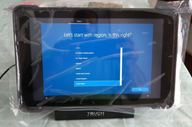 "Touch Dynamic QUEST 10"" Tablet Intel Quad Core 4GB 64GB Windows 10w/MSR"