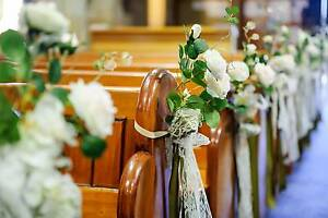 Wedding flowers - church pew flowers Ryde Ryde Area Preview