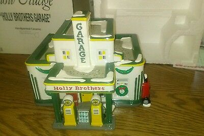 Dept 56 Holly Brothers Garage Building Snow Village