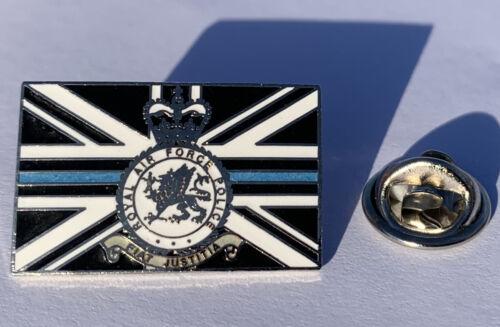 RAF Police (RAFP) crest thin blue line 25mm pin badge