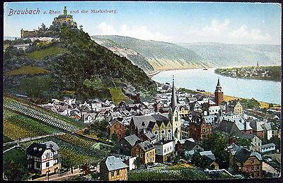 Germany Deutschland 1900S Braubach Am Rhein   Marksburg   Castle