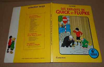 Vieille BD 1966 Quick et Flupke Série 6 Hergé auteur Tintin Bel état coins usés