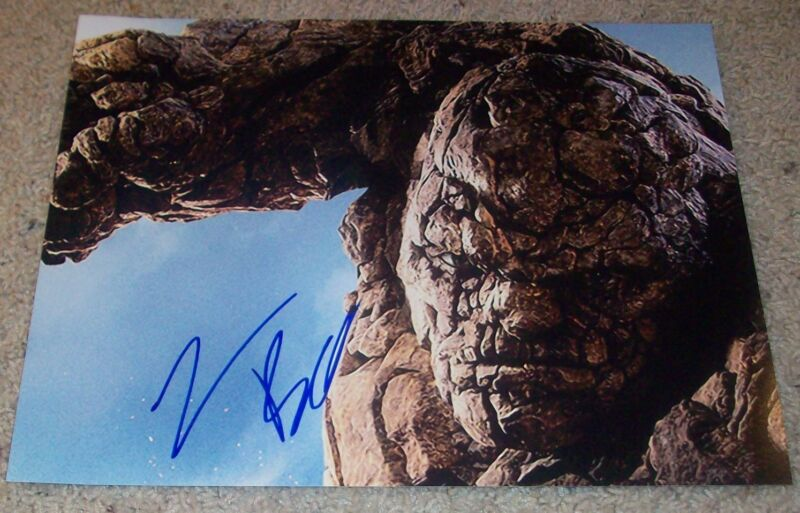 JAMIE BELL SIGNED AUTOGRAPH FANTASTIC FOUR THING 11x14 PHOTO w/EXACT VIDEO PROOF