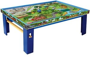 Thomas Wooden Railway Island Play Table + Accessories