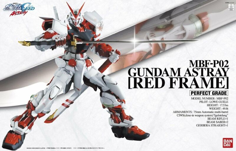 Bandai SEED PG 1/60 Gundam Astray Red Frame Model Kit 158463 US Seller USA