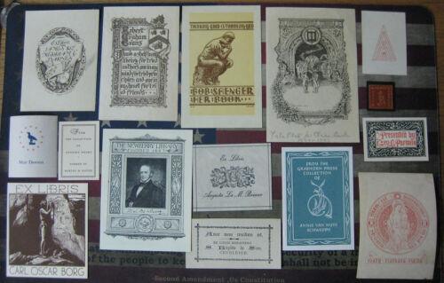 EX LIBRIS - 15 pcs of EXLIBRIS Book Plates - BINo